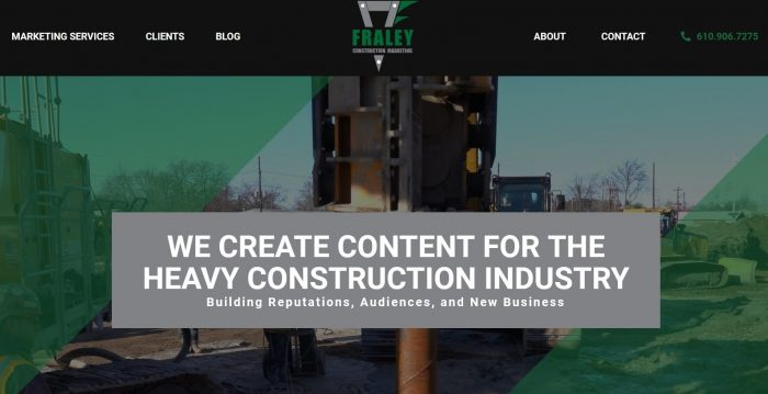 Fraley Construction Marketing Website